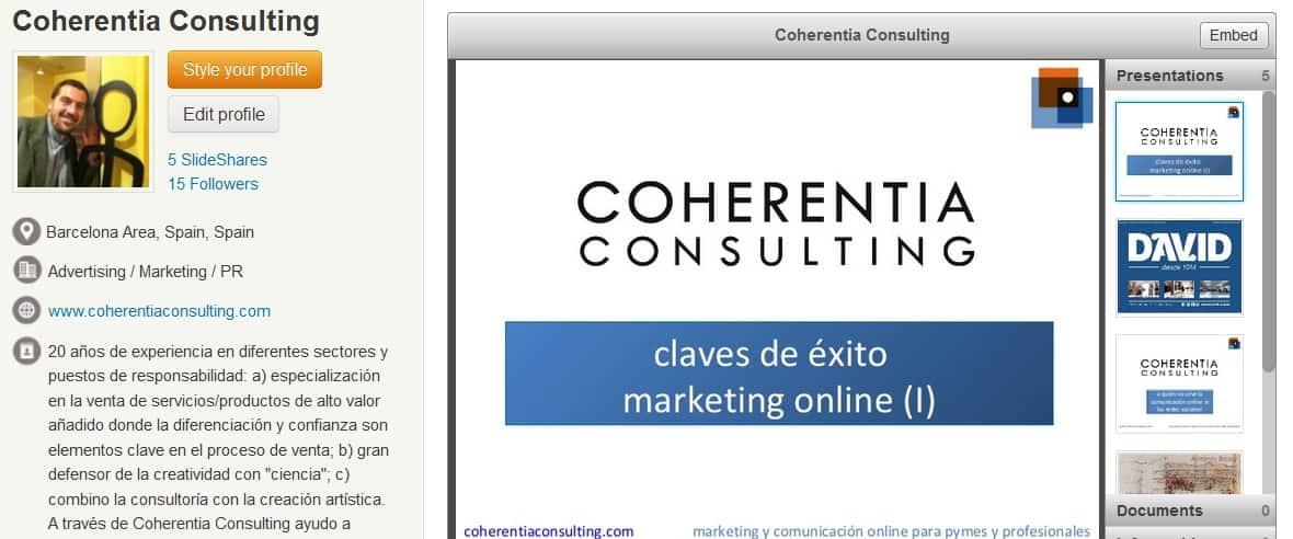 sliseshare coherentia consulting