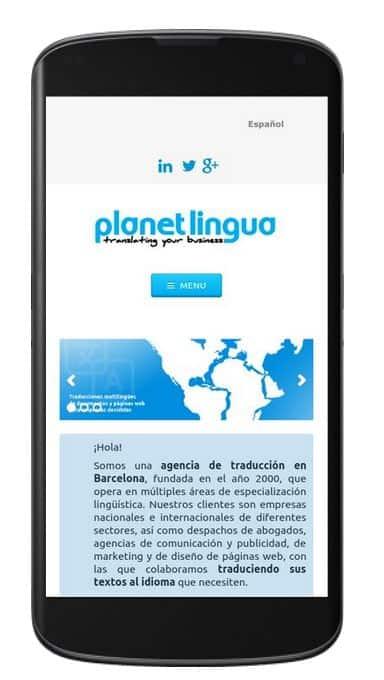 marketing online para empresas de barcelona, planet lingua